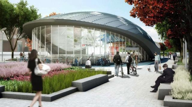 Rendering of Vaughan Centre station on the Spadina subway extension. I
