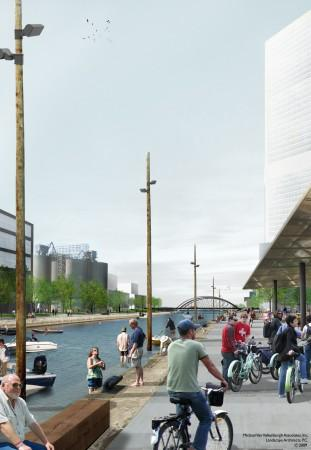 Lower Don Lands and Port Lands Plan by Waterfront Toronto - Keating Channel