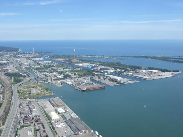 Lower Don Lands and Port Lands today, image courtesy of Waterfront Toronto