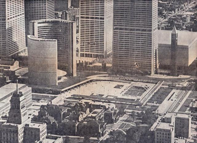 Aerial Photo of City Hall and Nathan Phillips Square