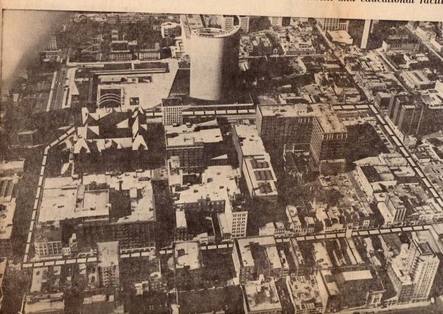 Aerial Photo of Downtown Toronto Before the Eaton Centre