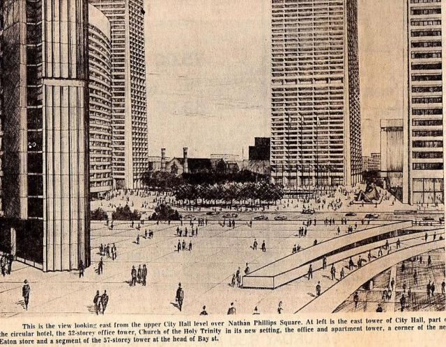 Artists Rendering of Nathan Phillips Square and Queen Street