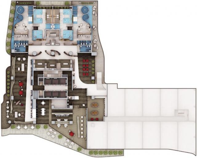 Layout of the 6th Floor at One Bloor