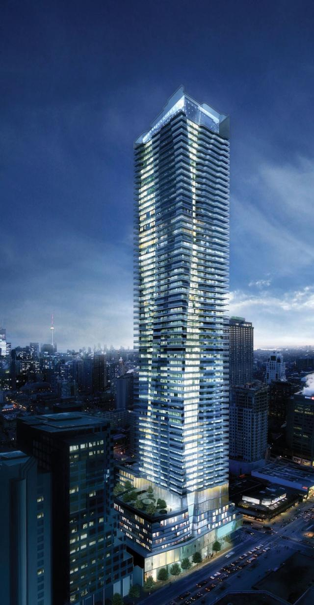 Rendering of the Tower at One Bloor at Night