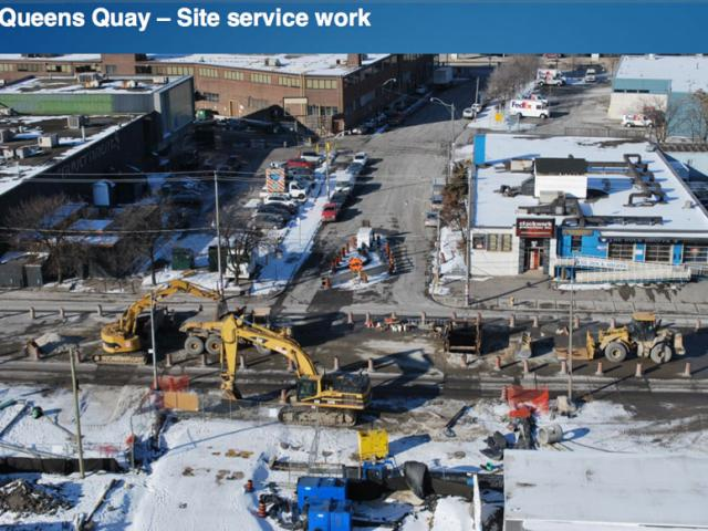 Service Work along Queens Quay