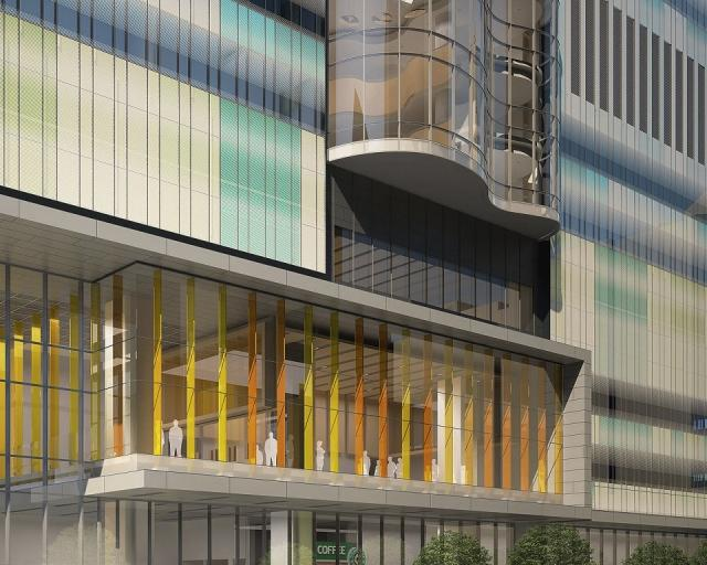 Cladding detail for SickKids Research and Learning Tower Toronto