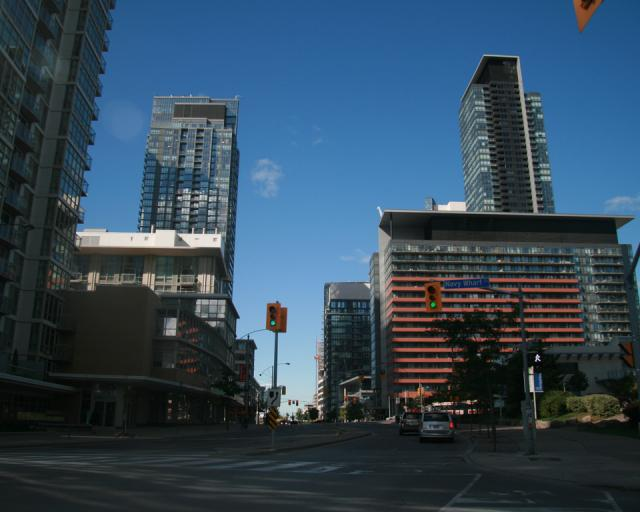 Site of Spectra condos by Concord, looking East on Fort York Boulevard