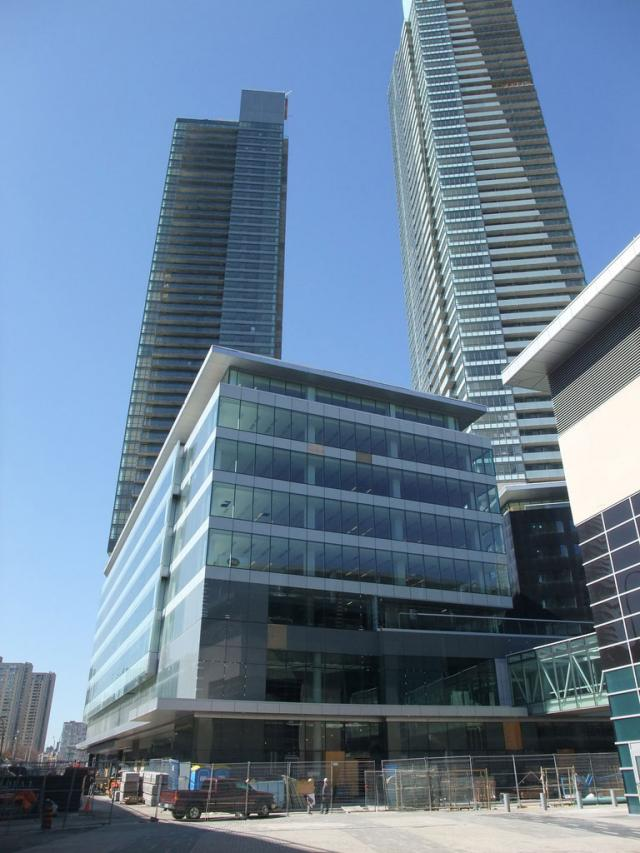 Maple Leaf Square condos podium, Toronto by Cadillac Fairview, Lanterra and MLSE