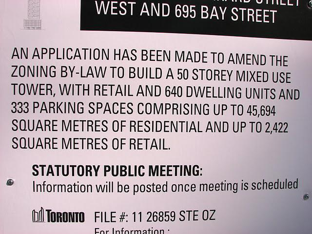 Rezoning Application for a 50-storey mixed-use tower at 43 Gerrard St W
