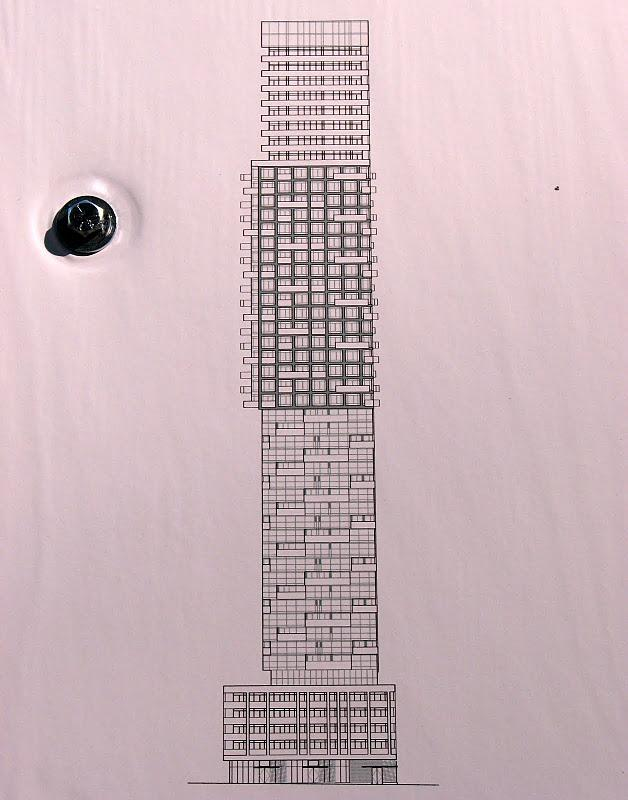 Rendering of the tower at 43 Gerrard Street West, downtown Toronto