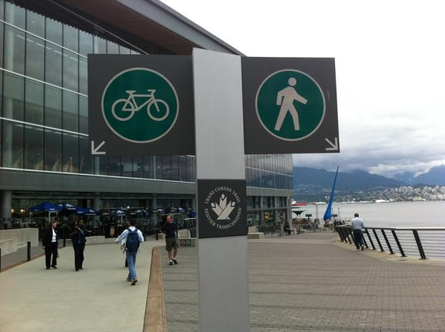 Convention Centre bikeway walkway Vancouver