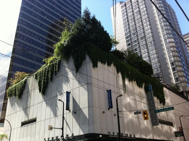 Pacific Centre green roof Vancouver
