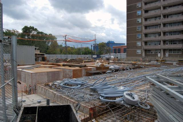 Looking southward at the 8 Chichester Place construction site, image courtesy of