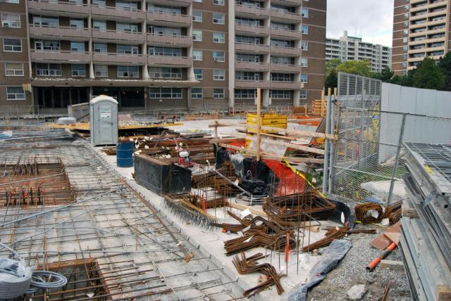 Looking northward at the 8 Chichester construction site, image courtsey of cruzi