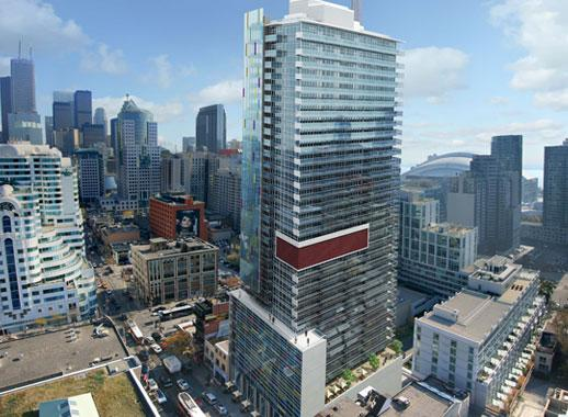 M5V Life Condos Toronto by Lifetime Developments and TAS with Core Architects