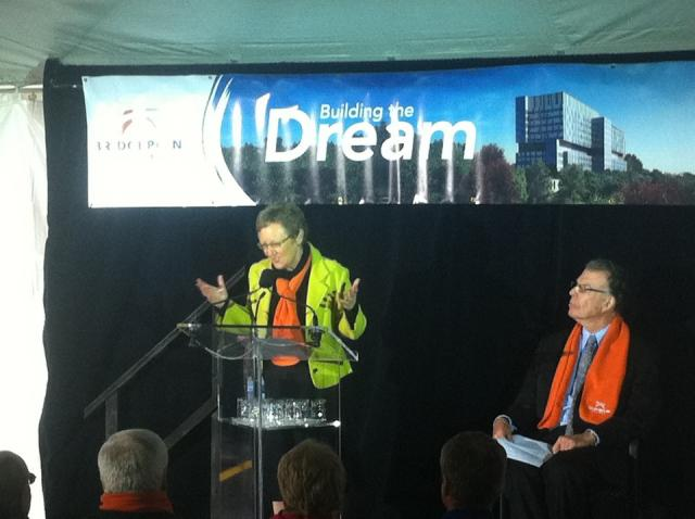 Marian Walsh President CEO, Bridgepoint Hospital topping-off ceremony, Toronto