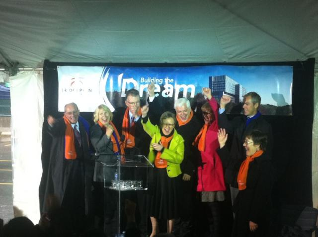 Bridgepoint Hospital topping-off ceremony, Toronto