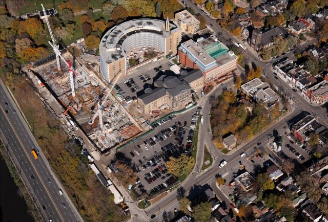 Bridgepoint Hospital redevelopment aerial view, Toronto