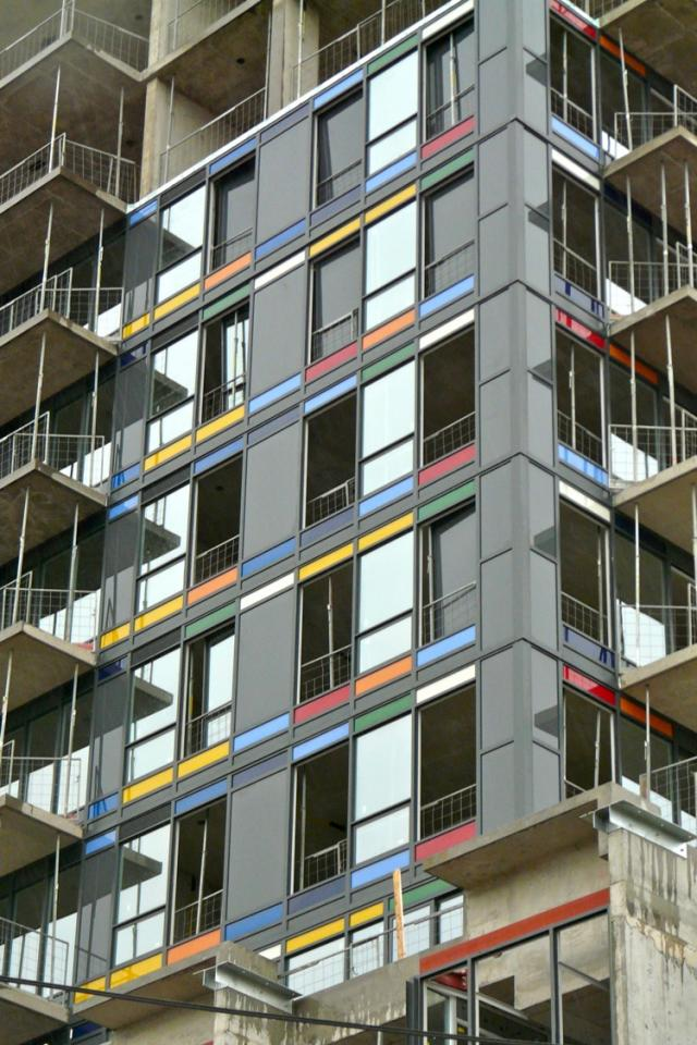 Paintbox Condominiums under construction in Toronto by The Daniels Corporation