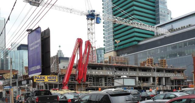 Construction on Cinema Tower as of October 24, Toronto, by Daniels Corporation