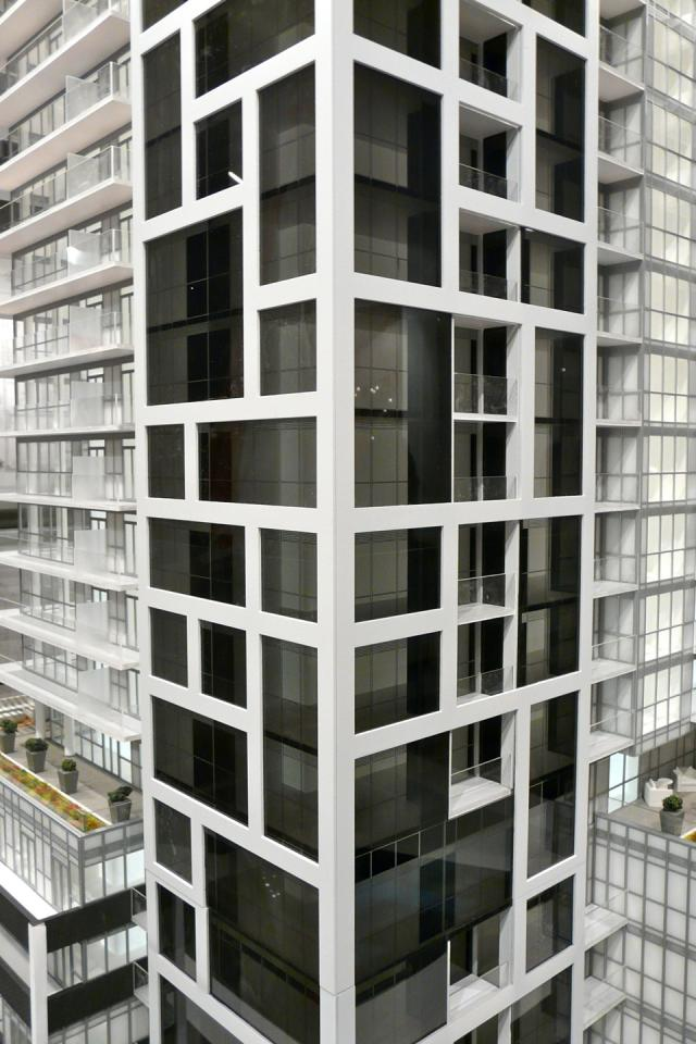 Scale model of Rise condominiums, Toronto, by Reserve Properties