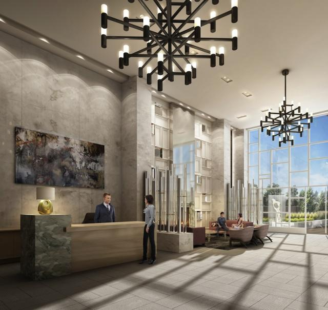 Lobby of Rise condominiums, Toronto, by Reserve Properties