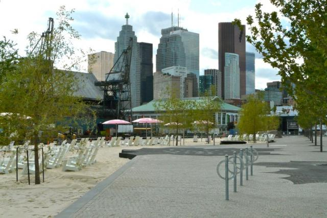 Sugar Beach and the Corus Building part of the East Bayfront Revitalization