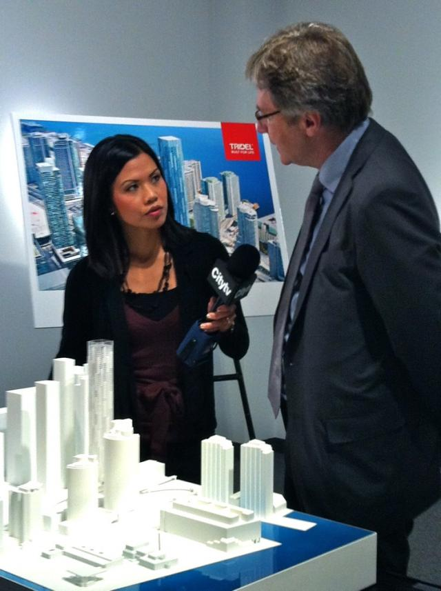 Architect Rudy Wallman is interviewed about Ten York condos, Toronto, by Tridel