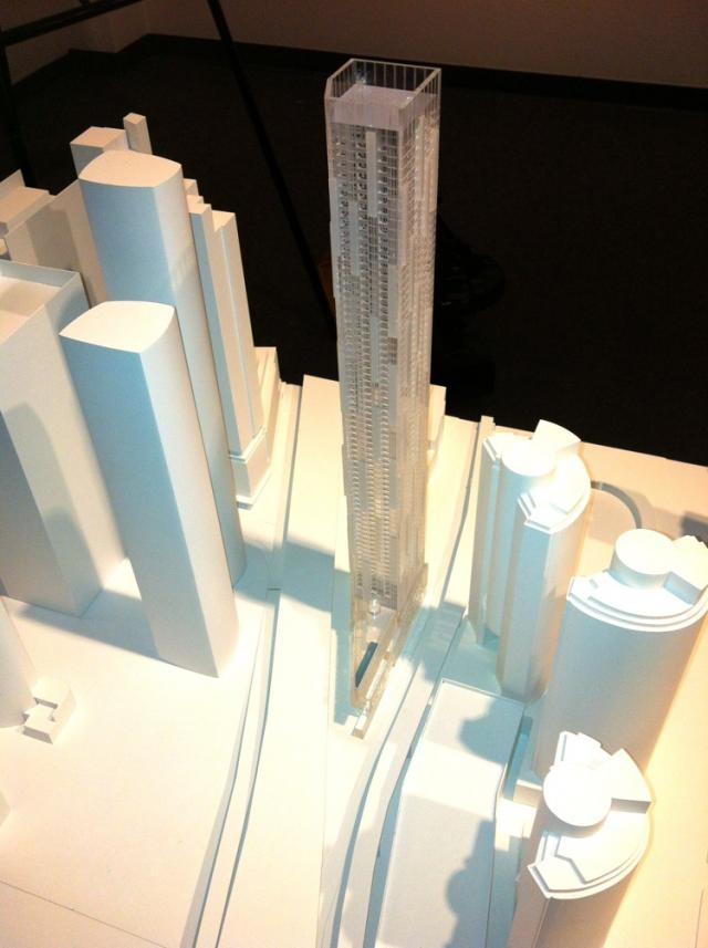 Scale model of Ten York condos, Toronto, by Tridel