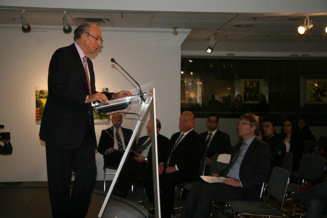 Tridel President Leo DelZotto speaks at the launch of Ten York condos, Toronto