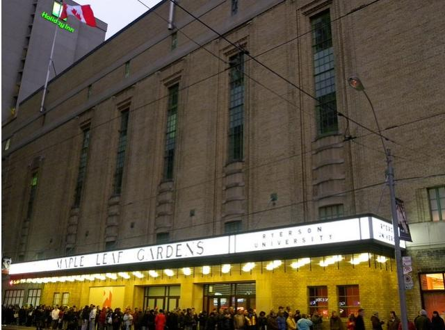 Outside of Maple Leaf Gardens, home of new Loblaws in downtown Toronto