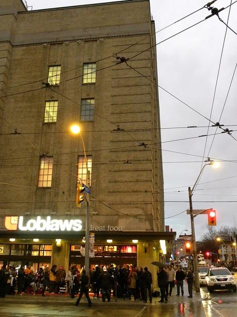 Looking at the corner of Church and Carlton, new Loblaws in downtown Toronto