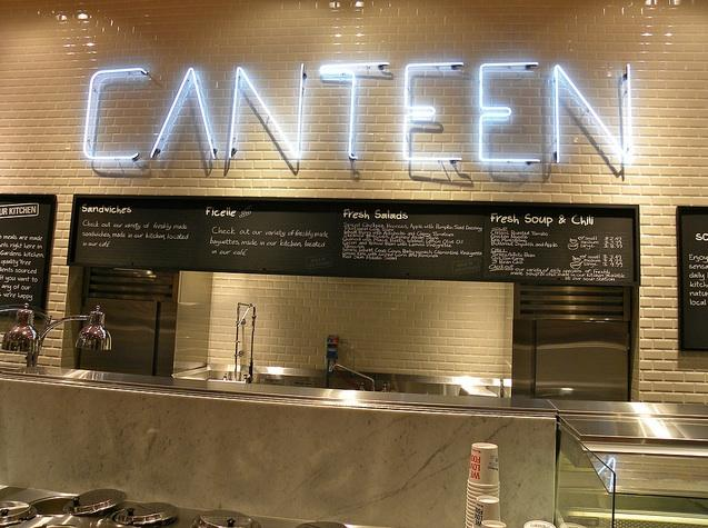 Canteen counter inside of Loblaws at Maple Leaf Gardens in downtown Toronto