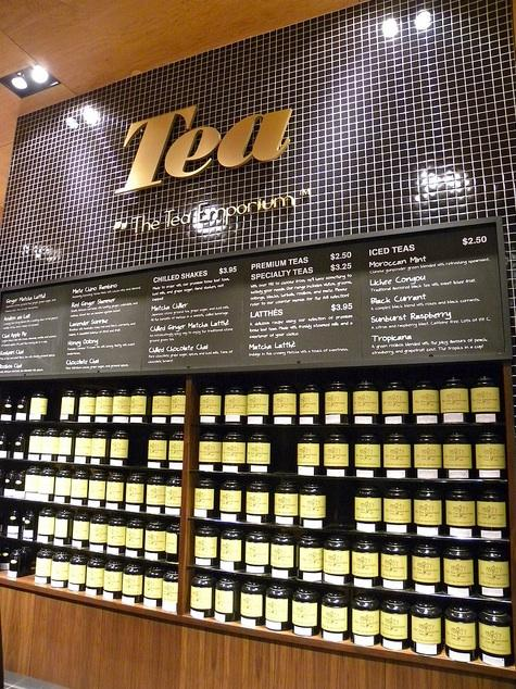 Tea wall inside of Loblaws at Maple Leaf Gardens in downtown Toronto