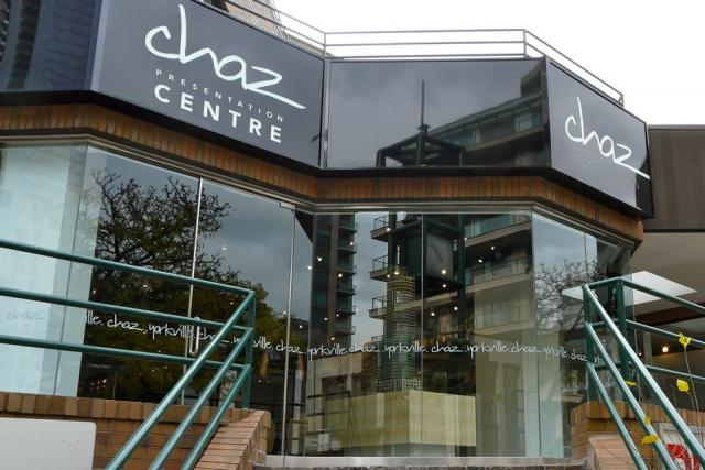 Presentation Centre for Chaz condos, Toronto, now on Yorkville Avenue