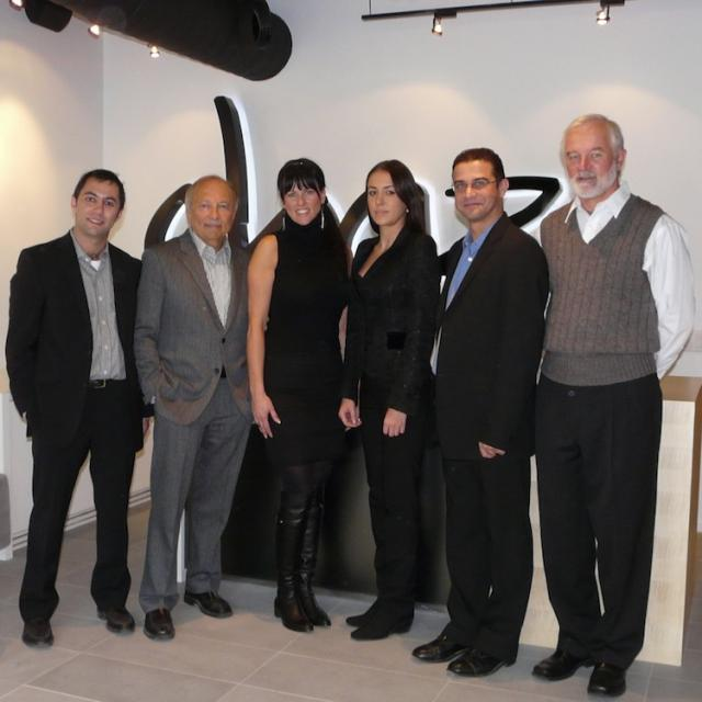 The team for Chaz condos Yorkville, Toronto, in the presentation centre
