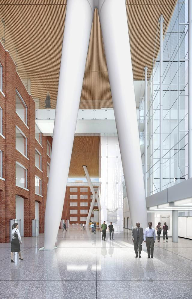 Lobby at QRC West, Toronto, by &Co Architects for Allied REIT