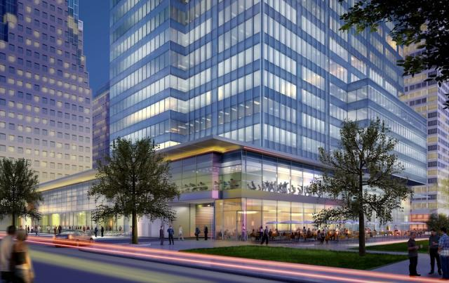 Street and parkside at RBC WaterPark Place III, Toronto, by Oxford Properties