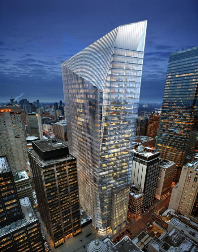 100 Adelaide W, 44-storey version, Toronto, by Oxford Properties
