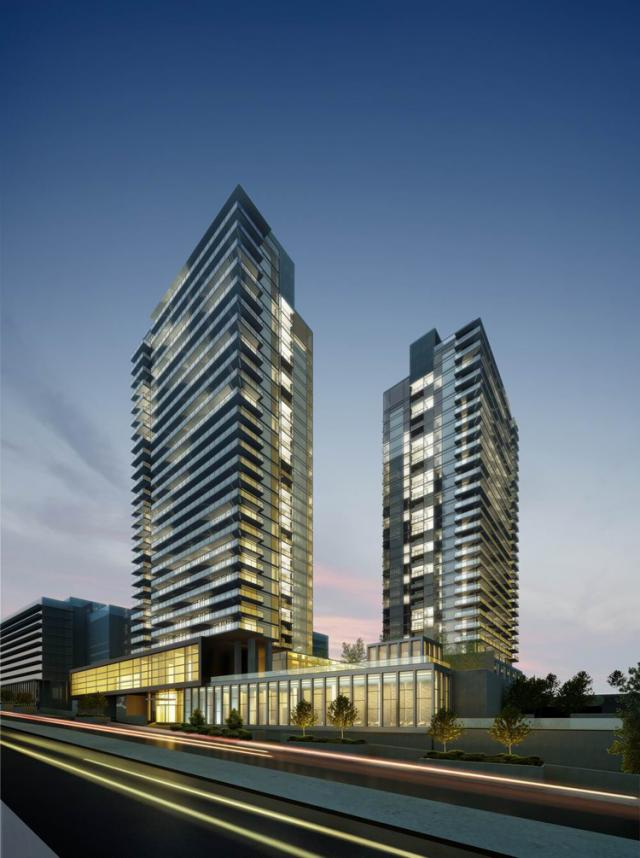 Discovery 1 & 2 at Concord Park Place in Toronto by Concord Adex, Quadrangle