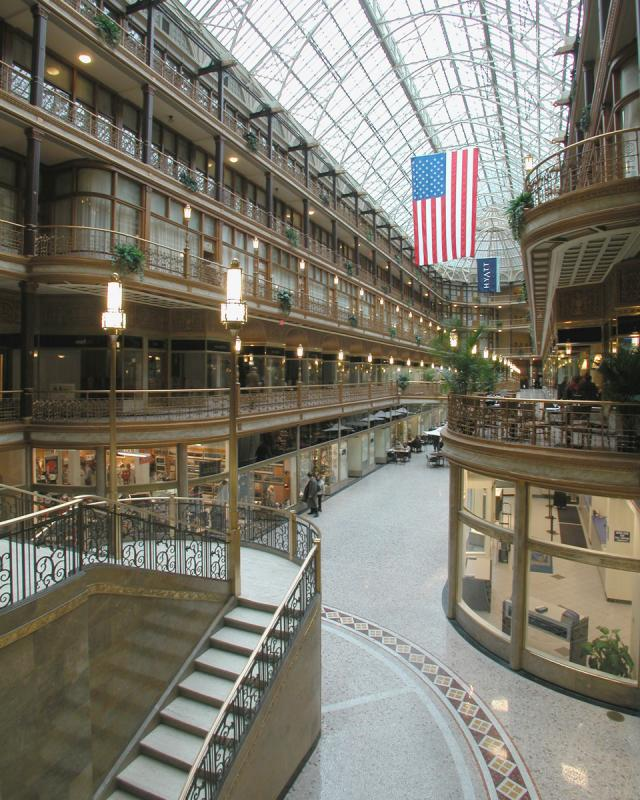 Cleveland Arcade and Hyat Regency Hotel in Cleveland by Skyline International
