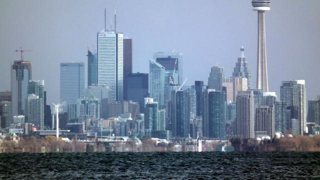 Toronto Skyline From Humber Bay. Trump, Shangri-La, Parade