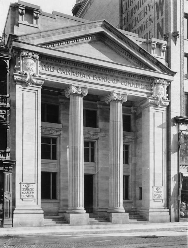 Darling and Pearson's 1905-built Canadian Bank of Commerce at 197 Yonge, Toronto