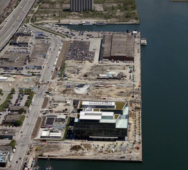 Toronto's East Bayfront in its current state