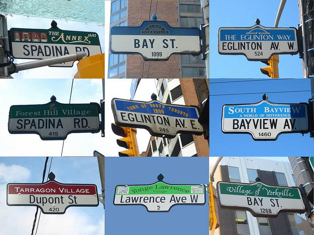 Street signs from uptown