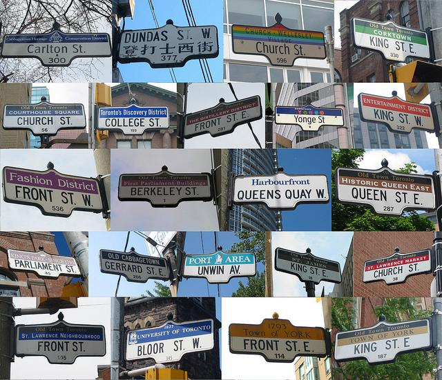 Street signs from downtown