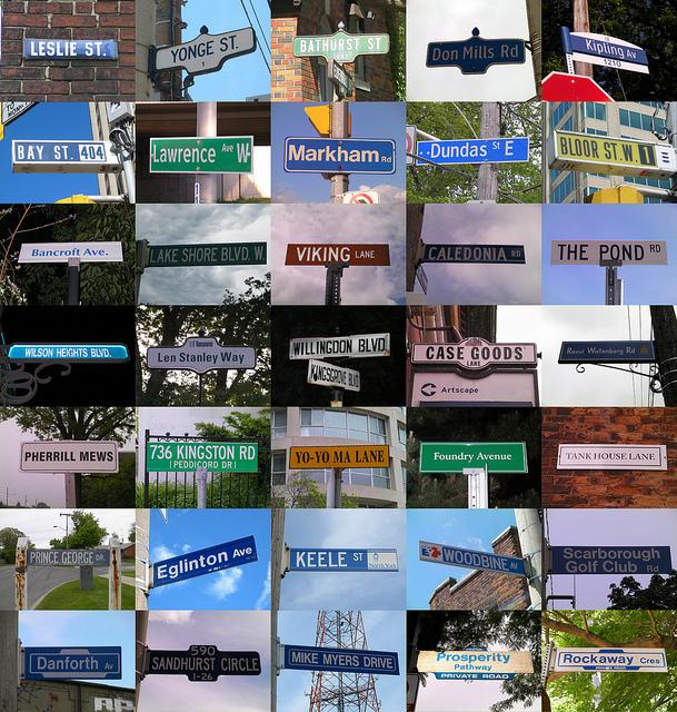 General typology of Toronto signs