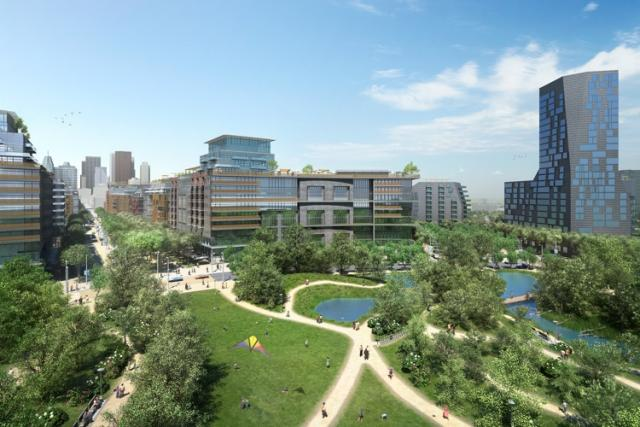 Rendering of the Don River Park