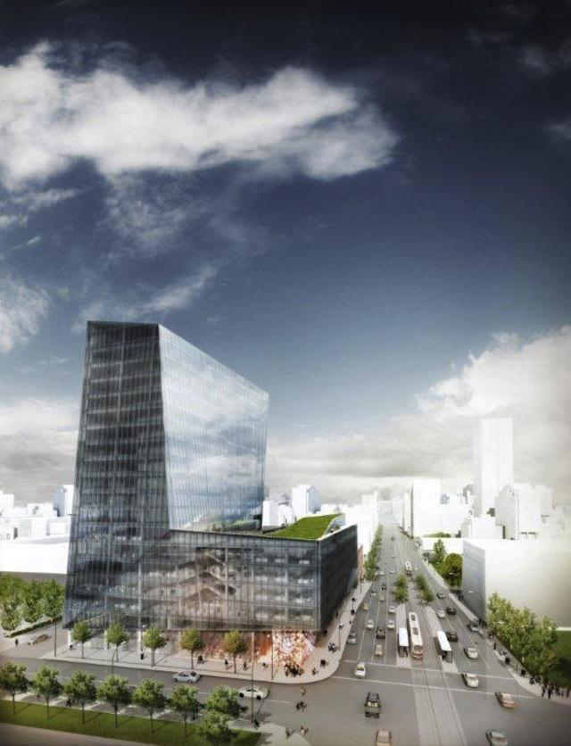 Early rendering for the new Globe and Mail offices in Toronto by KPMB