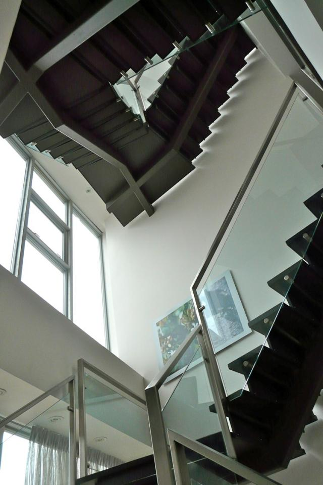 Penthouse stair view at 1 King West, Toronto